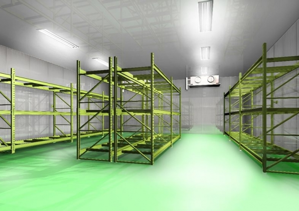 Cold Storage Room In Warehouse: First Floor